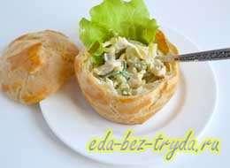 Профитроли с салатом 8 шаг