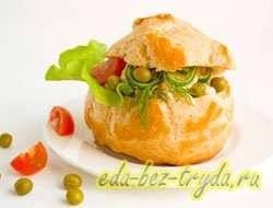 как приготовить Профитроли с салатом