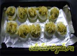 Фаршированные яйца с сыром 10 шаг