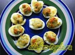 Фаршированные яйца с сыром 12 шаг
