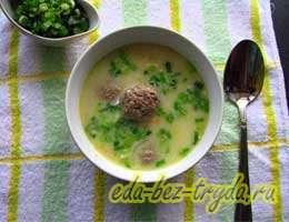 Сырный суп с фрикадельками 6 шаг