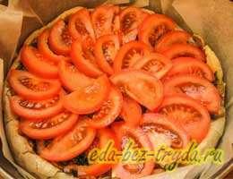 Киш с грибами и помидорами 10 шаг