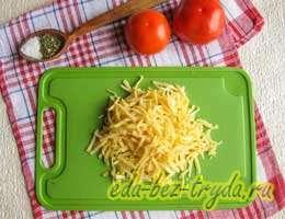 Киш с грибами и помидорами 2 шаг