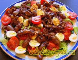 Салат с куриными сердечками 12 шаг