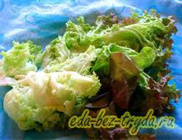 Салат с куриными сердечками 3 шаг