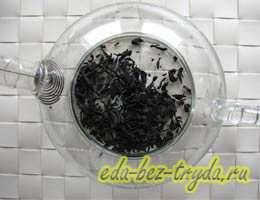 Смородиновый чай с базиликом 1 шаг