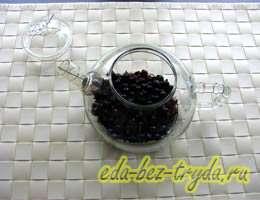 Смородиновый чай с базиликом 2 шаг