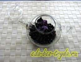Смородиновый чай с базиликом 3 шаг