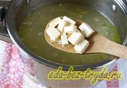 Куриный суп с плавленным сыром 7 шаг