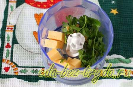 Салат новогодние игрушки 9 шаг