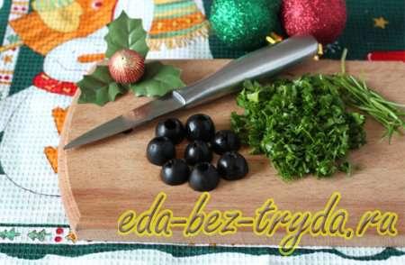 Салат новогодние игрушки 4 шаг