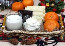 как приготовить Десерт из мандаринов в белом шоколаде