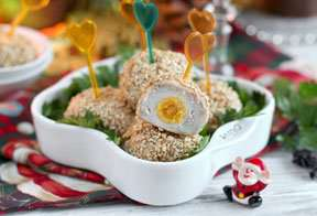 Закуска из курицы и перепелиных яиц Сказка