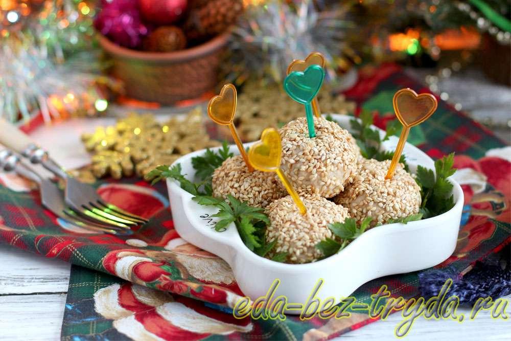 Закуска из курицы и перепелиных яиц Сказка рецепт с фото
