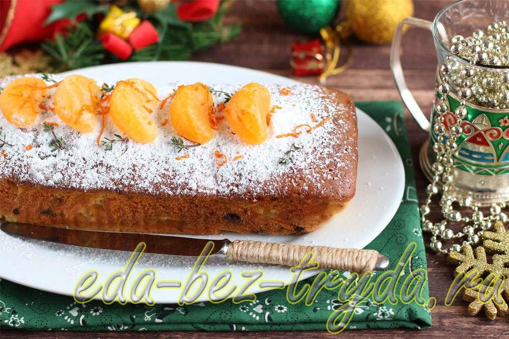 Мандариновый кекс рецепт с фото