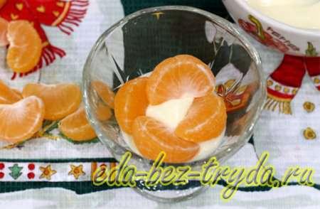 Десерт из мандаринов в шоколаде 6 шаг