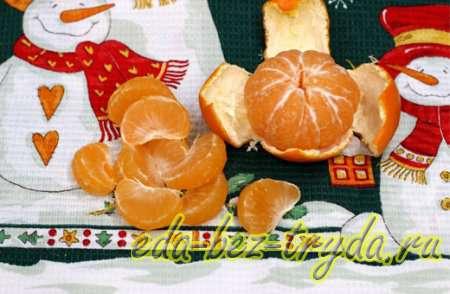 Десерт из мандаринов в шоколаде 4 шаг