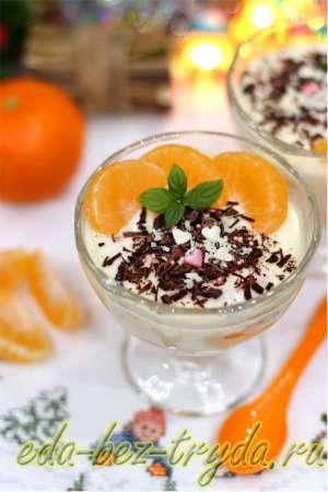 Десерт из мандаринов в шоколаде 9 шаг