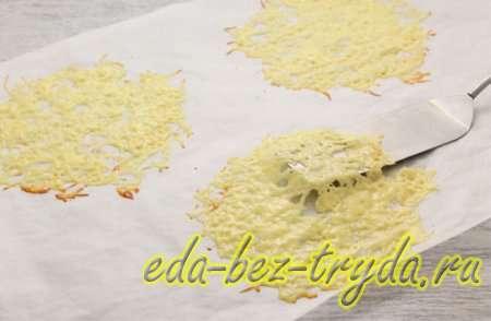 Закуска в сырных корзиночках 3 шаг