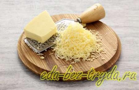 Закуска в сырных корзиночках 1 шаг