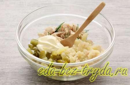 Закуска в сырных корзиночках 5 шаг