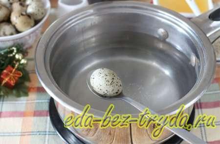 Закуска из перепелиных яиц рецепт с фото 2 шаг