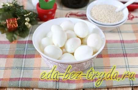 Закуска из перепелиных яиц рецепт с фото 3 шаг