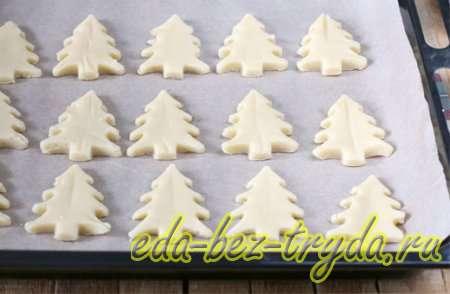 Печенье елочка 4 шаг