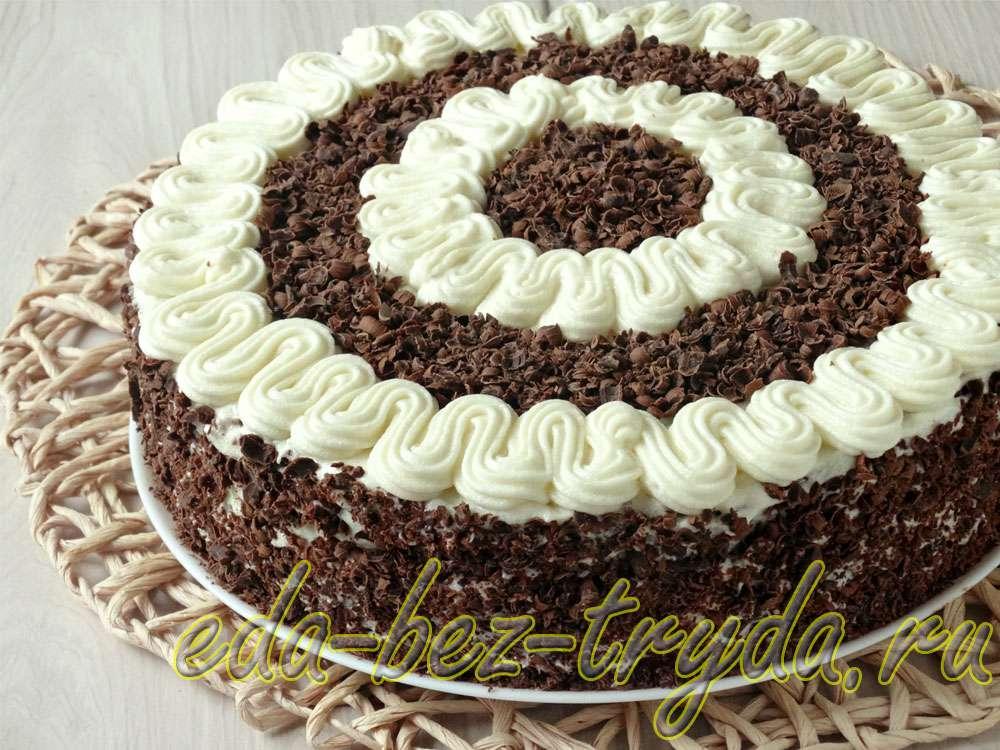 Шоколадный бисквитный торт рецепт с фото