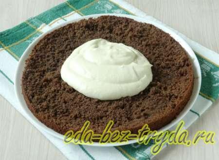 Шоколадный бисквитный торт рецепт с фото 11 шаг