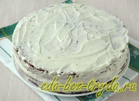Шоколадный бисквитный торт рецепт с фото 12 шаг