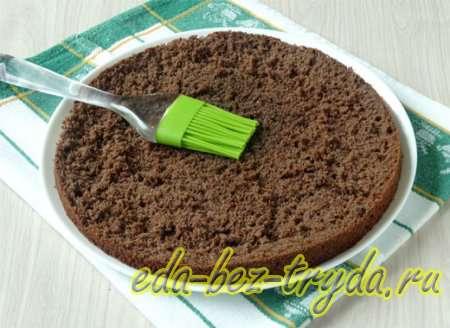 Шоколадный бисквитный торт рецепт с фото 10 шаг