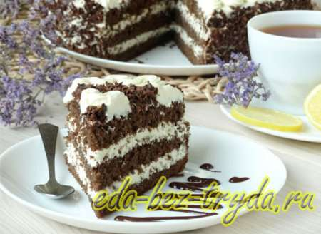 Шоколадный бисквитный торт рецепт с фото 14 шаг