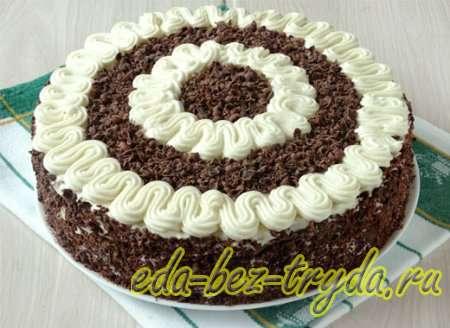 Шоколадный бисквитный торт рецепт с фото 13 шаг