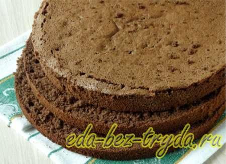 Шоколадный бисквитный торт рецепт с фото 6 шаг