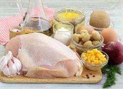 как приготовить Салат с курицей и кукурузой