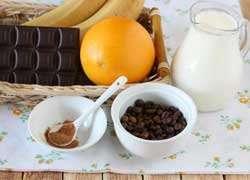 как приготовить Шоколадно банановый смузи с кофе