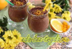 Шоколадно банановый смузи с кофе