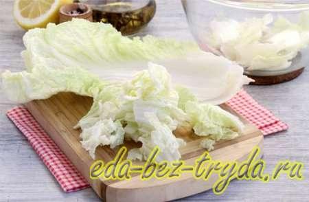 Салат с курицей и сухариками 3 шаг
