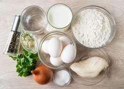 как приготовить Блины с курицей и яйцом