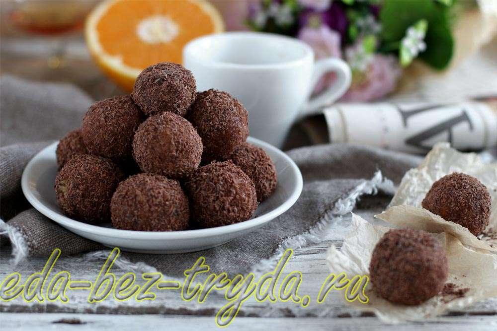 Ореховые шарики с апельсином в шоколаде рецепт с фото