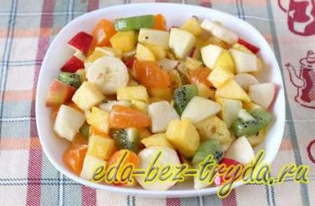 Фруктовый салат с мороженым 8 шаг