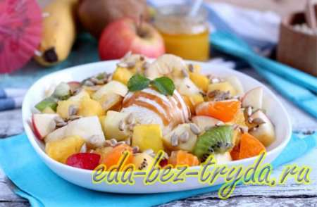 Фруктовый салат с мороженым 10 шаг
