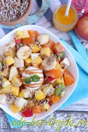 Фруктовый салат с мороженым 11 шаг