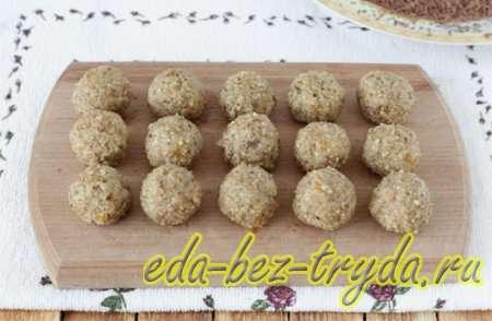Ореховые шарики 6 шаг