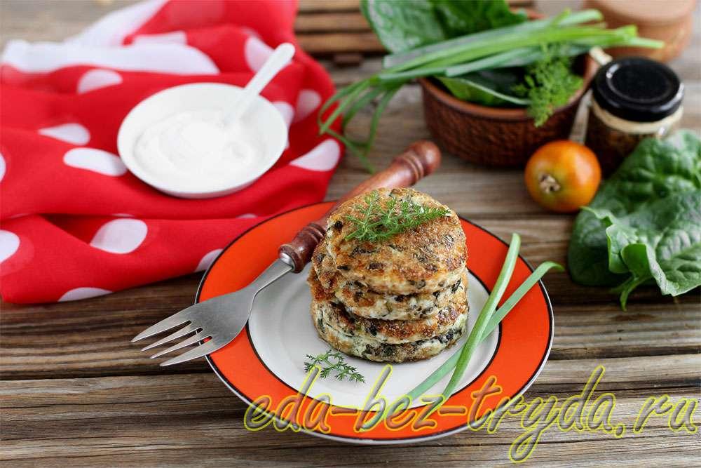 Сырники со шпинатом и зеленью рецепт с фото