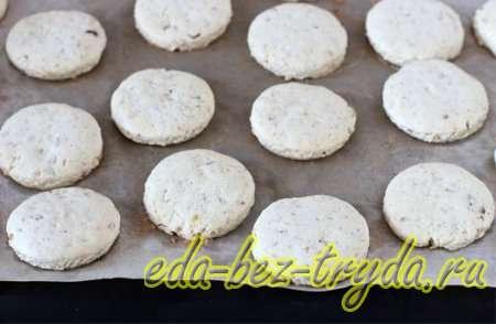 Ставим ореховые заготовки в духовку 8 шаг
