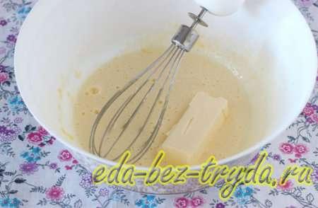 Добавляем сливочное масло 2 шаг