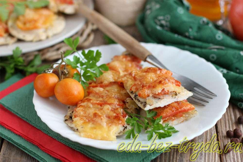 Отбивные в духовке с помидорами и сыром рецепт с фото