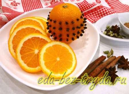 Нарежем апельсин и украсим 2 шаг